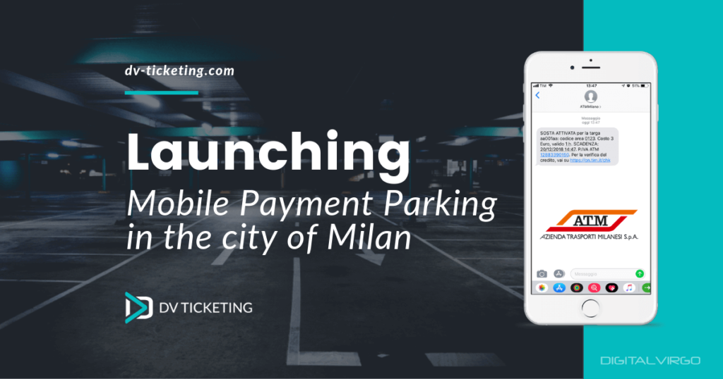 Mobile Payment parking launch in Milan