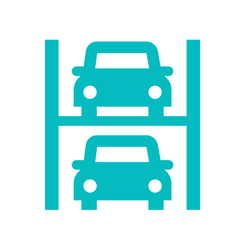 Multi level car parking icon